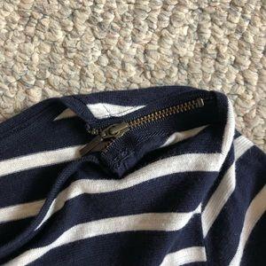 3/4quarter length stripped long sleeve